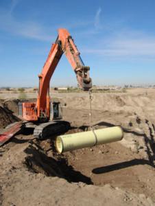 """42"""" welded steel pipe installation"""