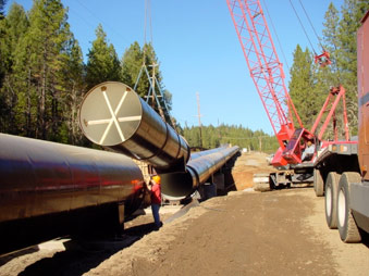 "78"" welded steel pipe installation"
